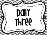 Rainbow Chevron Daily 3 Math Signs