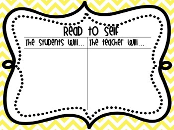 Rainbow Chevron Daily 5 Anchor Charts