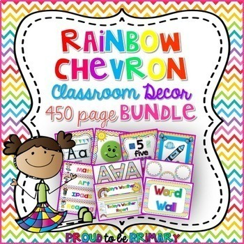 Rainbow Chevron Decor BUNDLE