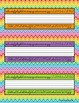 Rainbow Chevron Desk Name Tags