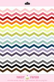 Rainbow Chevron Digital Clip Art Border Set - by Sweet papers