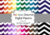 Rainbow Chevron Digital Papers