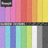 Rainbow Chevron Digital Papers