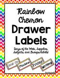 Rainbow Chevron Drawer Labels