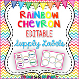 Rainbow Chevron Supply Labels