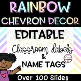 Rainbow Chevron Editable Labels