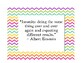 Rainbow Chevron Inspirational Quotes Signs (Set of 10)
