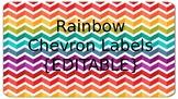 Rainbow Chevron Labels {EDITABLE}