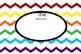 Rainbow Chevron Labels (Editable, 4X6)
