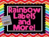 Rainbow Chevron Labels
