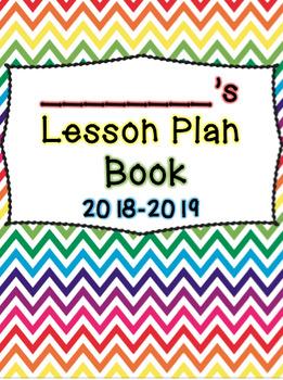 Rainbow Chevron Lesson Plan Book