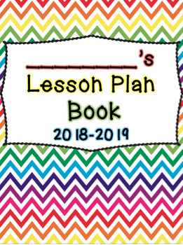 Rainbow Chevron Lesson Plan Book
