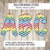 Rainbow Chevron Letters