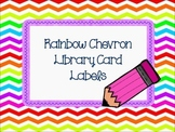 Rainbow Chevron Library Labels