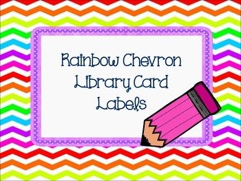 Rainbow Chevron Library Labels