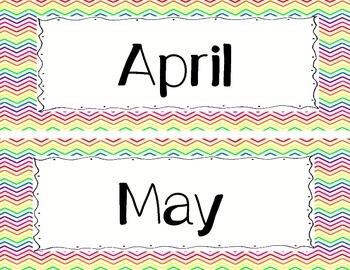 Rainbow Chevron Monthly Headers
