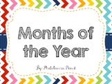 Rainbow Chevron Months of the Year