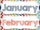 Rainbow Chevron Months of the Year