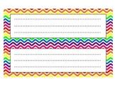 Rainbow Chevron Desk Name Plates