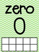 Rainbow Chevron Number Cards with Ten Frames. Numbers 0-20