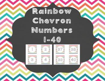 Rainbow Chevron Number Labels