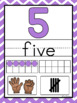 Rainbow Chevron Number Posters 0-20 and 0-30 with Counting Fingers & Tally Marks