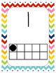 Rainbow Chevron Number Posters with ten frames #1-20