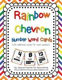 Rainbow Chevron Number Signs 0-20