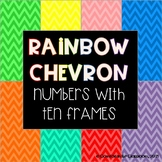 Number Wall with Ten Frames (Rainbow Chevron)