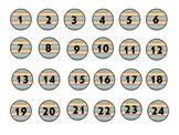 Rainbow Chevron Numbers 1-30