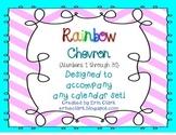Chevron Number Posters {Rainbow/Chevron}
