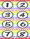 Rainbow Chevron Numbers 1-40