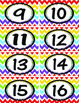 Rainbow Chevron Numbers 1-40
