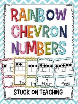 Rainbow Chevron Numbers
