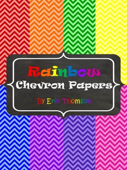 Rainbow Chevron Papers