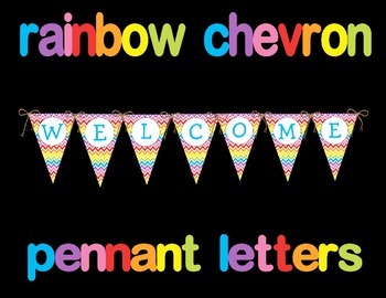 Rainbow Chevron Pennant Letters