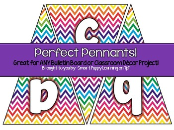 Pennant Bulletin Board Letters Rainbow Chevron