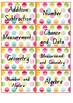 Rainbow Chevron Roller Drawer Labels