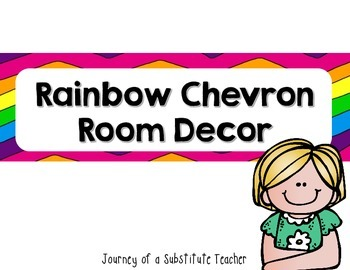 Rainbow Chevron Room Decor Pack