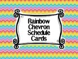 Rainbow Chevron Schedule Cards