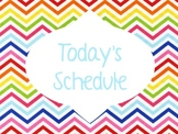 Rainbow Chevron Schedule Header