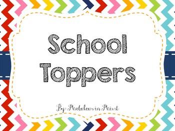 Rainbow Chevron School Toppers