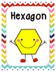 Rainbow Chevron Smiley Shape Posters - 2D Shapes FULL PAGE!