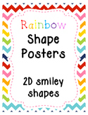 Rainbow Chevron Smiley Shape Posters - 2D Shapes