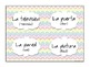 Rainbow Chevron Spanish Classroom Labels