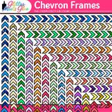 Chevron Border Clip Art | Rainbow Glitter Frames for Worksheets, Resources
