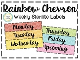 Rainbow Chevron Sterilite Labels (3 Drawer)