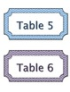 Rainbow Chevron Student Table Labels