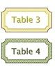 Rainbow Chevron Student Table Labels
