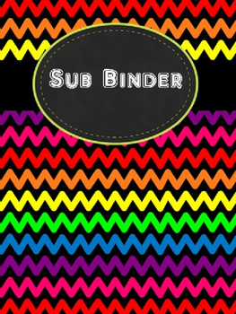 Rainbow Chevron Sub Binder Pages